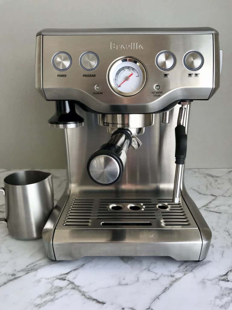 front of the breville infuser coffee machine