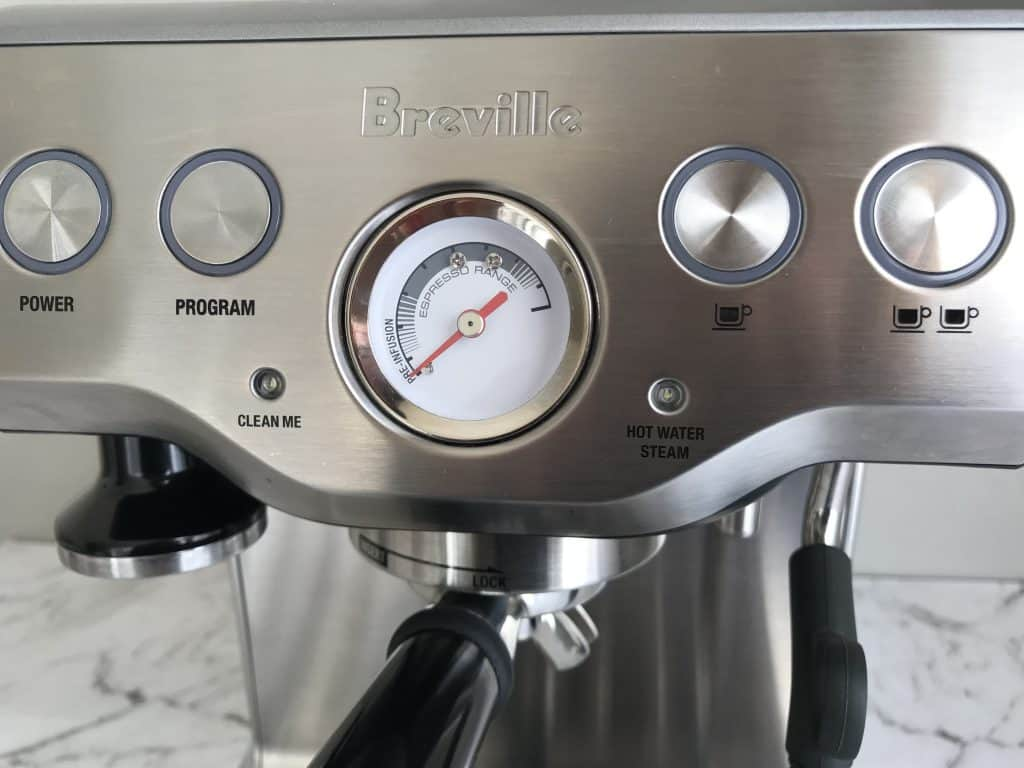 Close up view of Breville Infuser