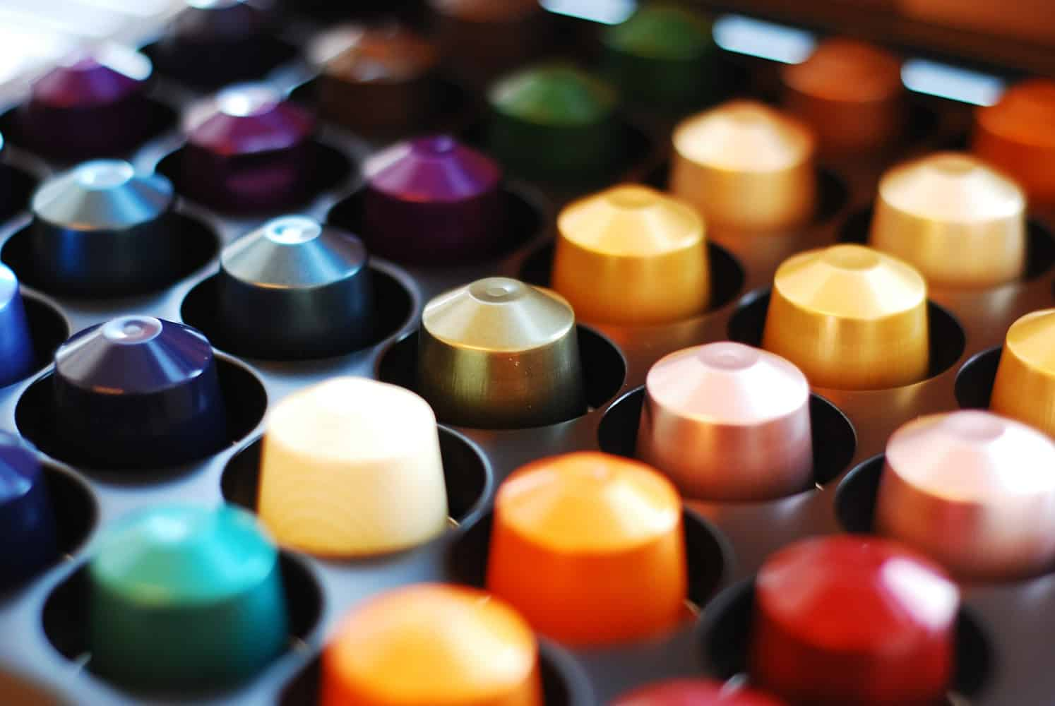 Variety of different Nespresso flavours