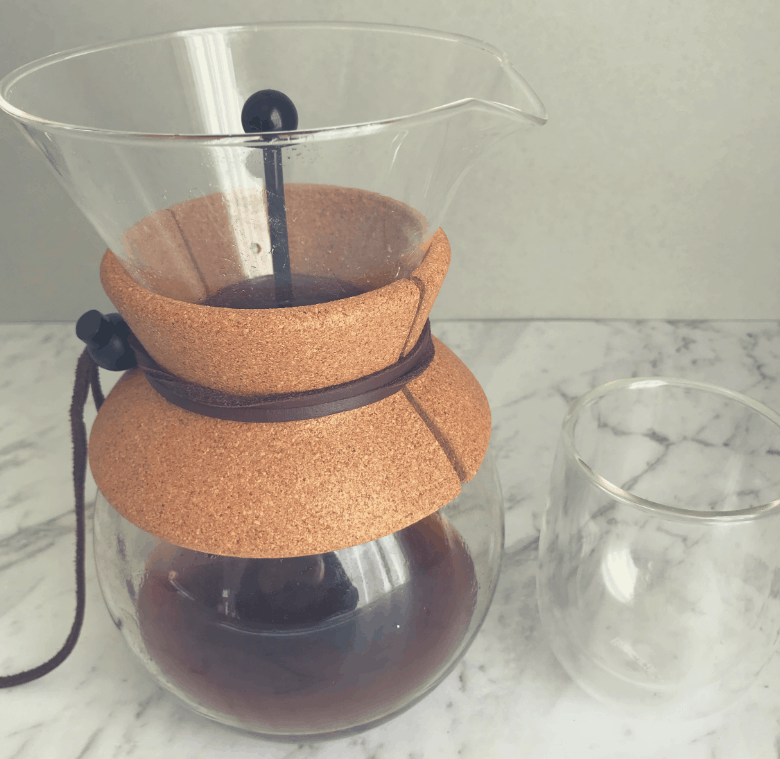 Bodum Pour Over coffee maker with coffee