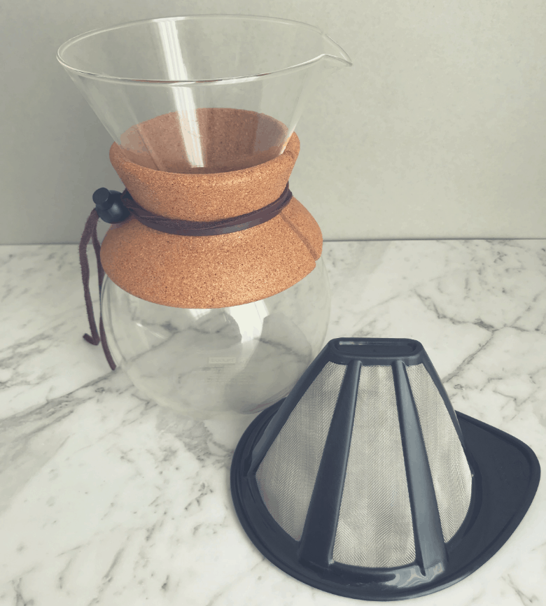 Bodum coffee maker and filter
