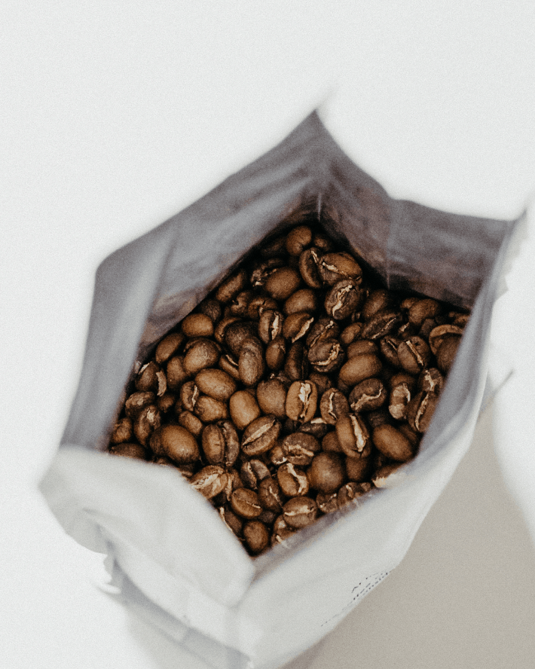 Open bag of Coffee Beans