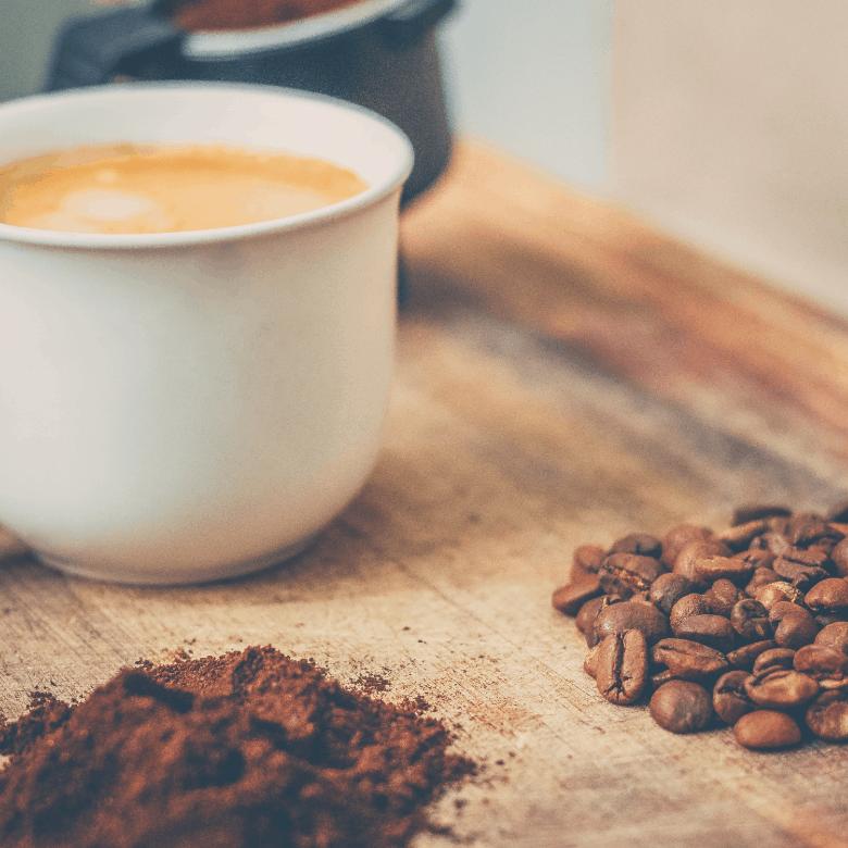 coffee beans, ground to make espresso
