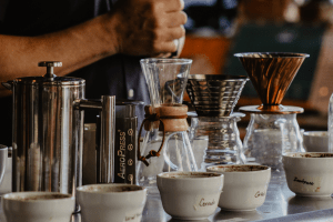 different pour over and french press coffee maker options