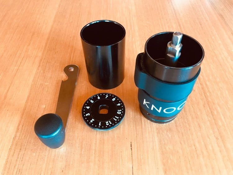 Image showing the parts of the Knock Aergrind
