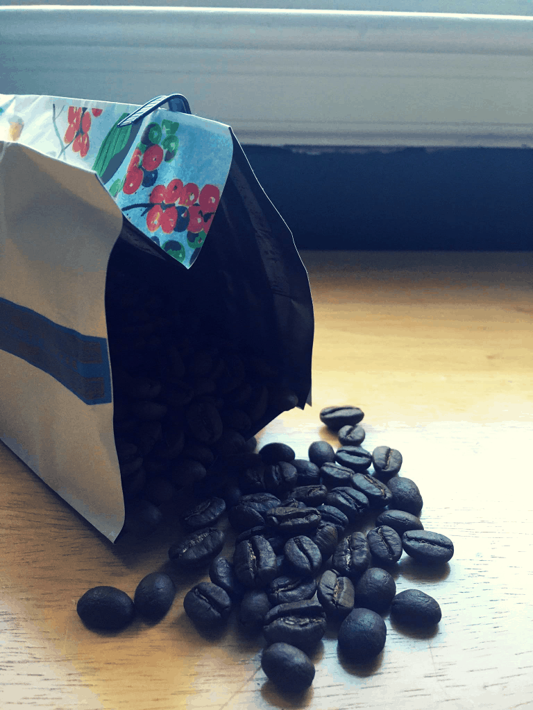 Lifeboost Coffee Beans pouring out of bag