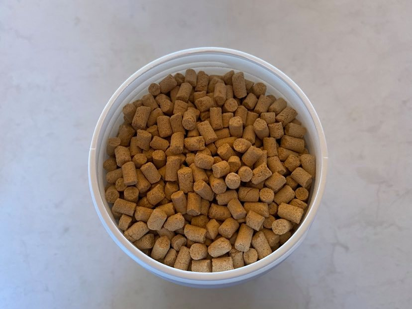 Photo of coffee grinding pellets used to clean coffee grinder