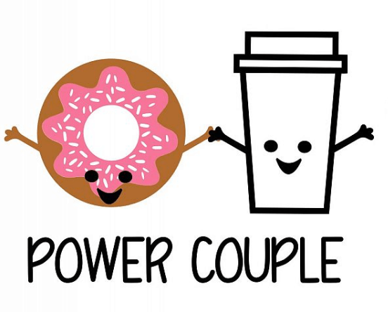Coffee and Donut SVG