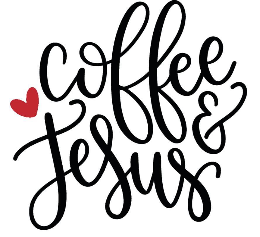 Coffee and Jesus SVG